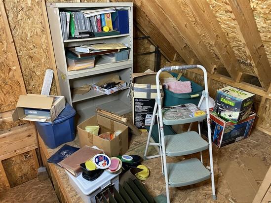 Barn attic corner cleanout lot