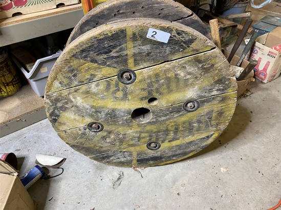 Large Antique Heavy Cable Wooden Spool