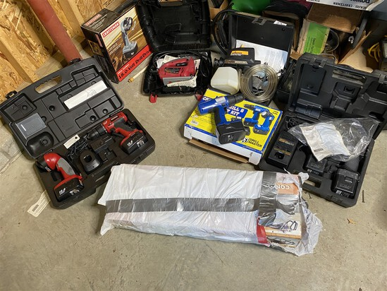 Large lot of assorted power tools and more