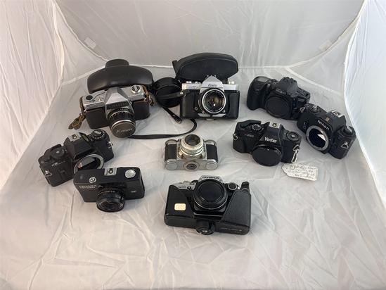 9 Vintage Cameras