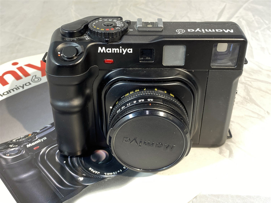 High-end vintage Mamiya 6 rangefinder camera with lens