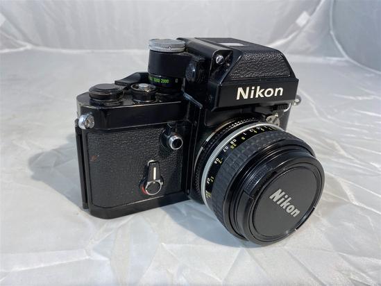 Vintage Nikon F2 Camera with Lens