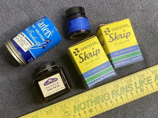 Group of vintage inks