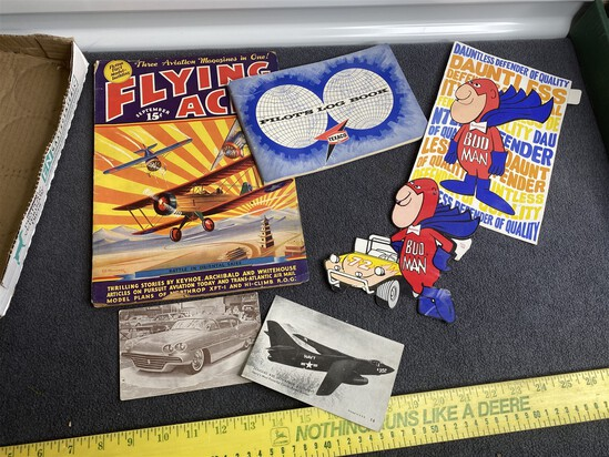 Vintage Paper Group Lot inc. FLying Aces, Bud Man