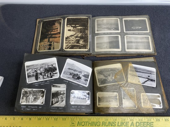 2 Great Old Military Photo Scrapbooks