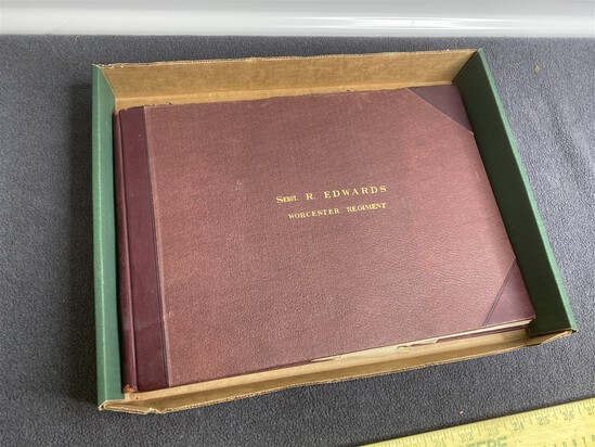 Rare English Worcester Regiment Uniform Tailor's Book