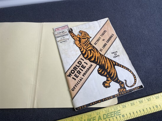 Rare Original 1934 World Series Program and Ticket
