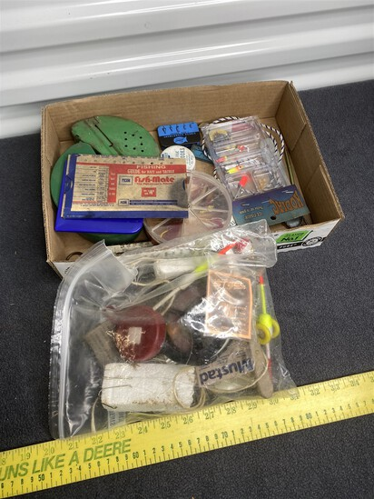 Group lot of assorted fishing items, lures and more