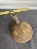Unusual Round Antique Carriage Weight