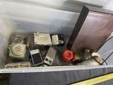 Transistor radios, flashlight, book, other vintage items
