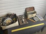 License plates, ax, assorted tools etc and more