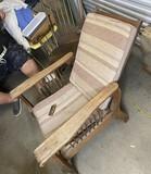 Antique Oak Morris Chair PLUS Empire Rocker