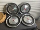 Set of 4 vintage Oldsmobile Delta 88 Hubcaps