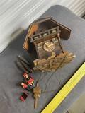 Antique Cuckoo Clock with elaborate mechanisms
