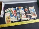 Group lot Vintage Advertising Travel Brochures