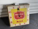 Vintage Meadow Gold Milk Advertising Clock