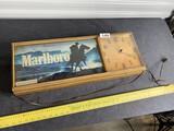 Vintage Marlboro Cigarettes Advertising Clock