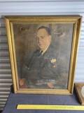 Antique Chromolithograph Portrait of a Man