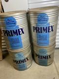 4 110lb Primex Vintage Shortening Cans