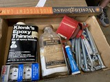 Group lot assorted vintage hardware items and more