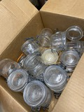 Group lot of French glass pint canning jars