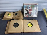 Group lot of old records including 45s, 78s