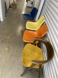 Group lot of 4 Mid Century Modern Chairs