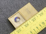 Antique sterling silver fraternal order pin in box