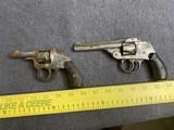2 Antique Owl Brand Revolvers Pistols