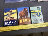 Group of three vintage Boy Scout books