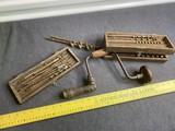 Antique Brace Bit Drill w/Drill Bits in case
