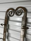 Pair of blacksmith made 72