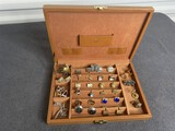 Box of assorted vintage cufflinks sets including Sterling silver