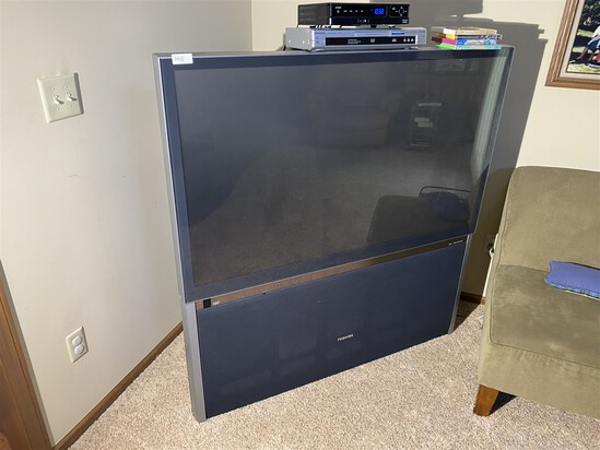 Large Toshiba flat screen television