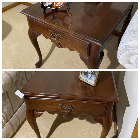 Pair of Vintage Queen Anne End Tables