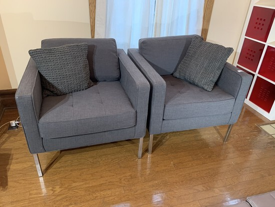A Pair of Contemporary Style Chairs