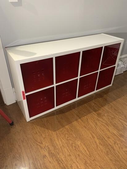 Cube Shelf with 8 Bins