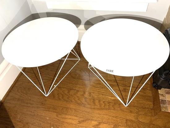 2 Contemporary Metal Tables