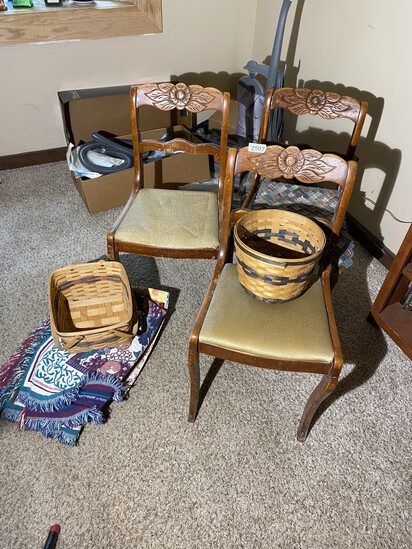 Three Old Chairs, Plus Ohio Baskets