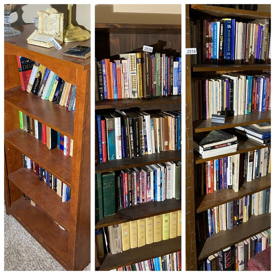 Group lot of three vintage bookshelves