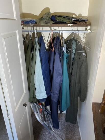 Contents of closet - military clothing