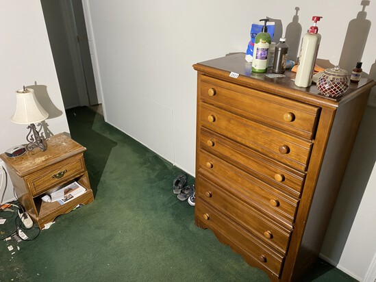 Vintage Dresser and small nightstand
