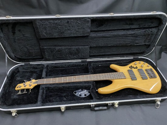 Vintage Bass Guitar in Case