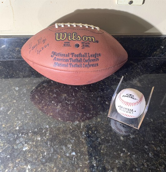 Autographed Football and Baseball (see Photos)