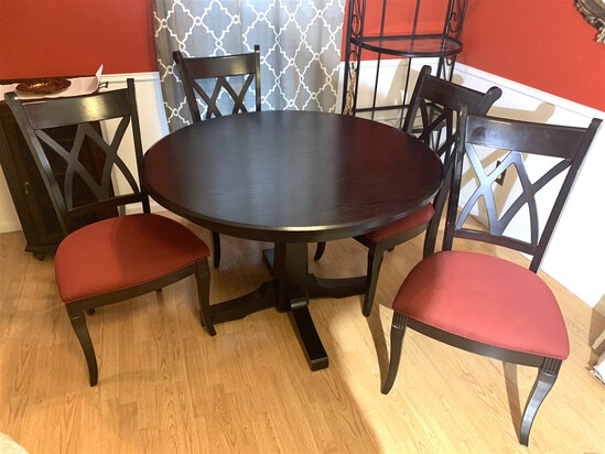 Beautiful Crate & Barrel Table with Bombay Co.  Chairs