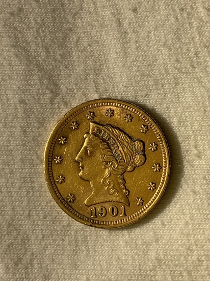 1901 $2.50 Liberty Gold Quarter Eagle Coin