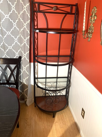 Bombay Bakers Rack with Built in Wine Shelf