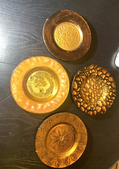Four Decorative Wall Plates