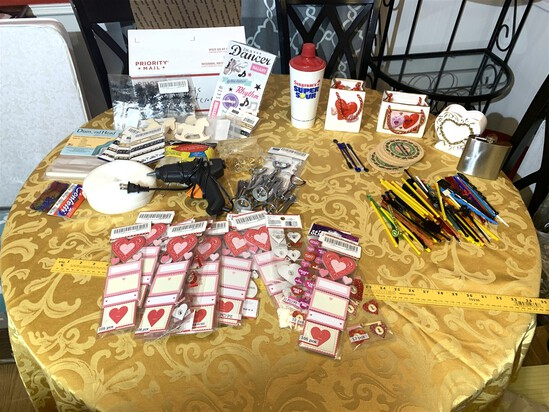 Assortment of Vintage Barware Items & Crafting Supplies