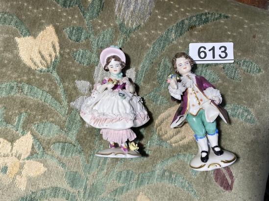 Pair of ceramic figurines - Dresden